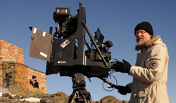 3D filming with mirror rig on Mount Halde